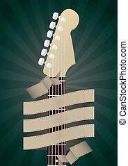 guitare, bannière