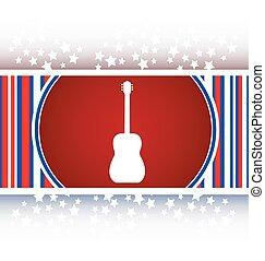 guitare, bouton, -, isolé, icône