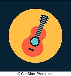 Guitare Conception Graphique Arbre Conception Tatouage Ailes