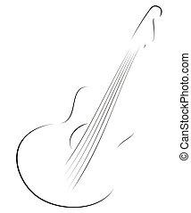 guitare, croquis