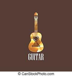 guitare, diamant, illustration, icône