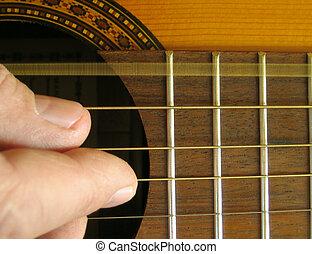 guitare, -, e-string