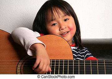 guitare, enfant