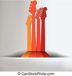 guitare, fond, résumé