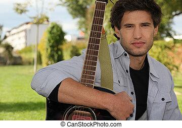 guitare, garçon