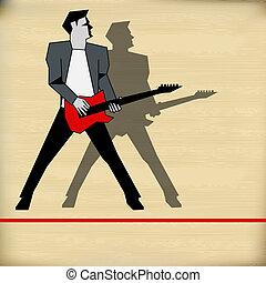 guitare, gig, retro, guide