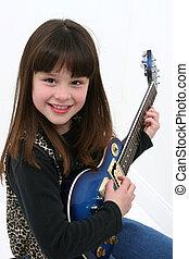 guitare, girl, électrique
