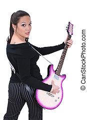 guitare, girl, 05
