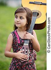guitare, girl