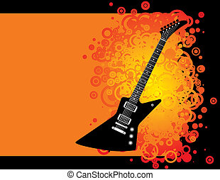 guitare, grunge, fond