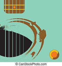 guitare, grunge, scène