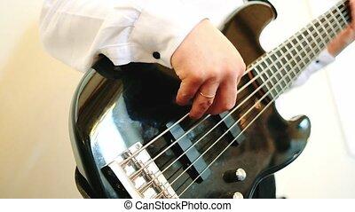guitare, guitariste, jouer