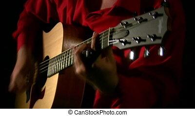 guitare, jeu, dark.