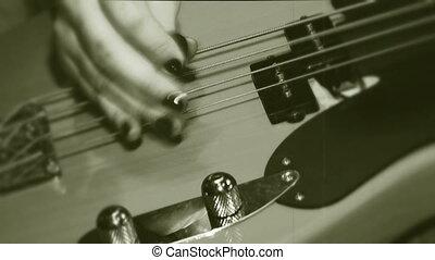 guitare jouer, électrique