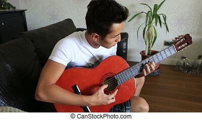 guitare jouer, 6