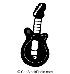 guitare, jouet, isolé