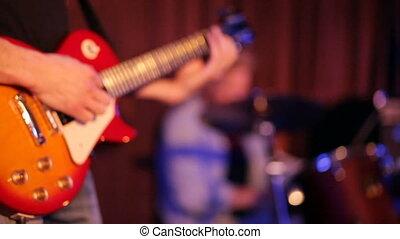 guitare, musicien, jeux