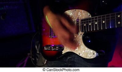 guitare, musicien, mâle, électrique