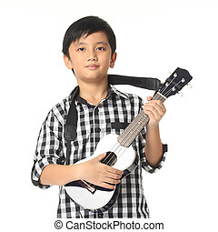 guitare, musique, enfant