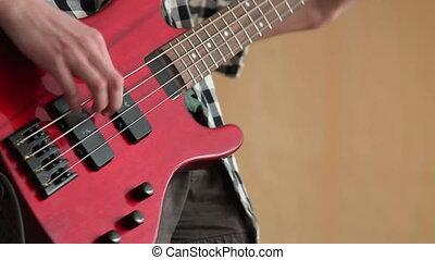guitare, musique, jouer, électrique