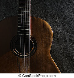 guitare, nature morte