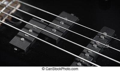 guitare, noir, basse électrique