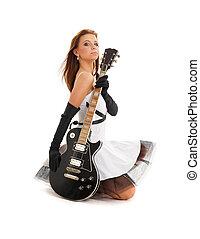guitare, noir