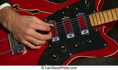 guitare, rouges