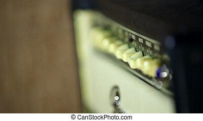 guitare, studio, amplificateur