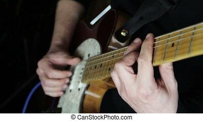 guitare, studio, guitariste, musique, jouer
