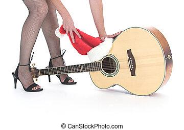 guitare, temps noël