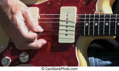 guitare, vendange, barre, whammy