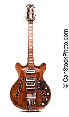 guitare, vieux, électrique