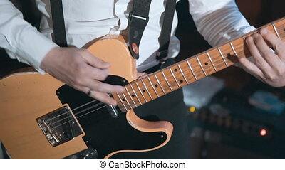 Guitarist at Work
