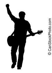 Guitarist - Abstract vector illustration of rock guitarist...