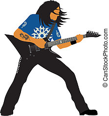 Guitarist - Abstract vector illustration of heavy metal...