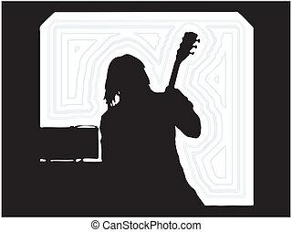 Guitarist Musician Silhouettes