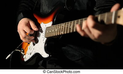 guitarist playing guitar