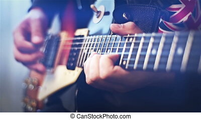Guitarist Playing - Professional Guitarist Playing Rock...