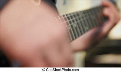 Guitarist Plays Rock Music - Guitarist Playing Guitar Solo...