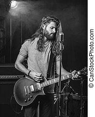 guitarist, toneel