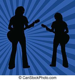 Guitarist vector poster