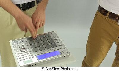 guitariste, chanteur, dj, midi, contrôleur, studio, performance, jouer