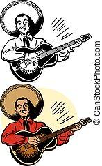 guitariste, mariachi