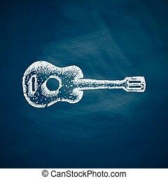 guitarra, ícone