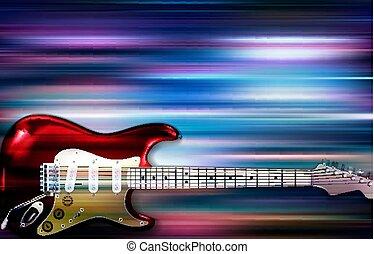 guitarra, abstratos, elétrico, fundo