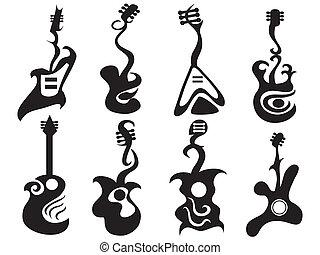 guitarra, abstratos