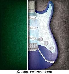 guitarra, abstratos, musical, fundo, elétrico