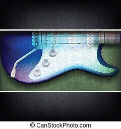 guitarra, abstratos, rachado, fundo, elétrico