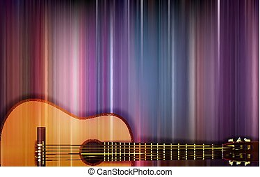 guitarra, acústico, abstratos, fundo